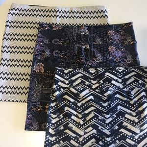 3 PULL ON SKIRTS sz 16 by NOW
